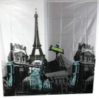 Eiffel Tower Thickening Shower Curtain - Black + White (180 x 180cm)