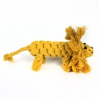 Lion Style Pet Handmade Cotton Rope Toy - Brown
