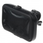 M05 360 Degree Rotation Bracket w/ PU Leather Waterproof Bag for Samsung N7100 i9220 - Black