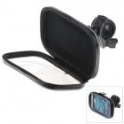 M05 360 Degree Rotation Bracket w/ PU Leather Waterproof Bag for Samsung i9500 - Black