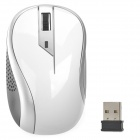 G-179 2.4GHz Wireless Red Laser 1000dpi Mouse - White + Grey + Black (2 x AA)