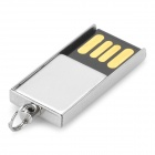 Portable Zinc Alloy USB 2.0 Flash Drive - Silver + Black (16GB)