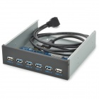 4.8Gbps 9pin / 20pin to 4-Port USB 3.0 / 2-Port USB 2.0 Front Panel - Black + Grey + Blue