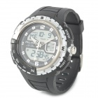 ALIKE AK1388 Sports 50m Water Resistant Quartz Digital Wrist Watch - Black + Silver