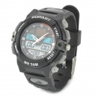 ALIKE A95 Sports 50m Water Resistant Quartz Digital Wrist Watch - Black