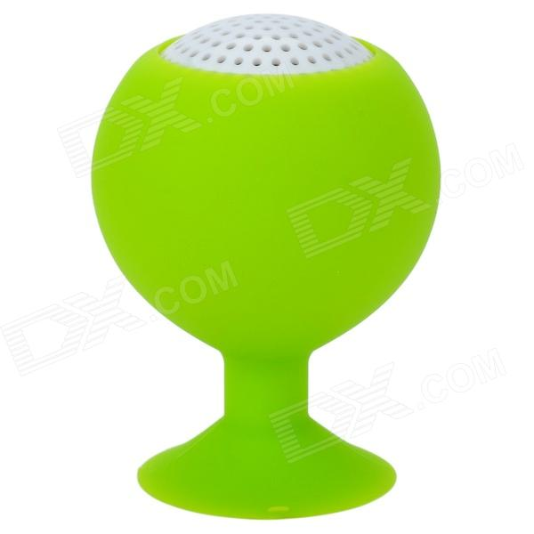 Portable Mini Rechargeable 2-Channel Speaker / Cell Phone Stand - Green бра адель 8 mw light 1275858