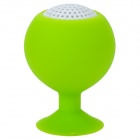 Portable Mini Rechargeable 2-Channel Speaker / Cell Phone Stand - Green