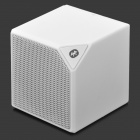 Portable Bluetooth v2.1 + EDR 2.1-Channel Speaker w/ Microphone / Strap - White