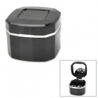 HTA-082 Convenient Desktop Plastic Ash Tray w/ Mirror - Black