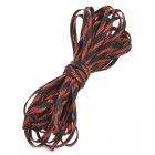 Dia 6mm Knitting PET Expandable Cable - Red + Black (15 M)