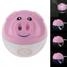 Cute Pig 2W Powered USB Air Humidifier w/ Colorful LED Lamp - Pink (DC 5V)