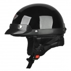 FR 02 Motorcycle Comfortable ABS Helmet w/ Goggles - Black
