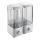 Double Box Plastic Soap Dispenser - White