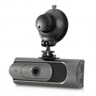 "AT600 1080P 1.5"" TFT 2.0MP Car DVR w/ HDMI / G-sensor / TF / Parking Mode - Black + Grey"