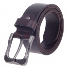 Stylish Top-Grade Korean Style Men's Head Layer Cow Leather Belt w / Zinc Alloy Buckle - Brown