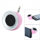 Mini Portable Rechargeable Speaker w/ 3.5mm Plug - Pink + Silver + Black