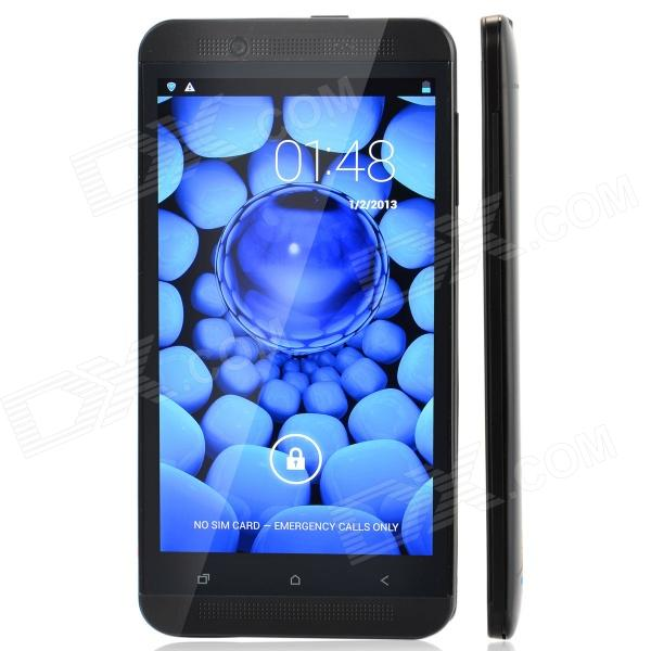 S6 MTK6589T Android 4.2 Quad-Core WCDMA Bar Phone w/ 5, Wi-Fi, GPS, FM, RAM 1GB, ROM 16GB - Black zopo zp1000 android 4 2 octa core wcdma bar phone w 5 0 screen wi fi and rom 16gb blue black