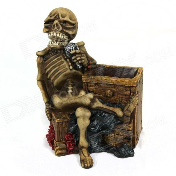 Resin Microphone Skeleton Pen Holder- Brown public house chair blue red brown color bar coffee house stool free shipping