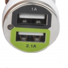 AYA-031 Chargeur allume-cigare à voiture double-USB AYA-031 - Blanc (DC 12V)