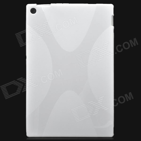 Protective PVC + TPU Back Case for Sony Xperia Tablet Z / Sony SGP341CN/B CN1 + More - Ivory x pattern protective pvc tpu back case for sony xperia tablet z more translucent white