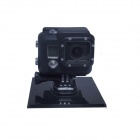 PANNOVO G-80 Protective Silicone Case for GoPro HD HERO 3 / SJ4000 - Black