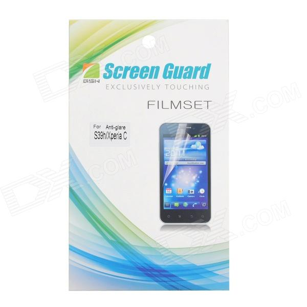 Protective Matte Screen Guard Film for Sony Xperia C S39h - Transparent protective matte frosted screen protector film guard for sony xperia j st26i transparent