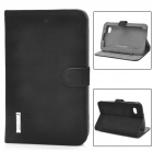 Protective  PU Leather Case w/ Stand for Samsung Galaxy Tab P3100 - Black