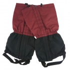 Thickening Warm Outdoor Camping Skiing Hiking Gaiters - Red + Black (Pair)