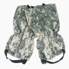 Thickening Warm Outdoor Camping Skiing Hiking Gaiters - Camouflage Grey (Pair)