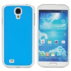Protective Plastic Back Case for Samsung Galaxy S4 i9500 - Sky Blue + White