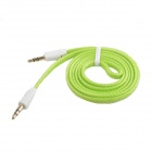 AYA-039 Nylon 3.5mm Male to Male Audio Connection Cable - Green (100cm)