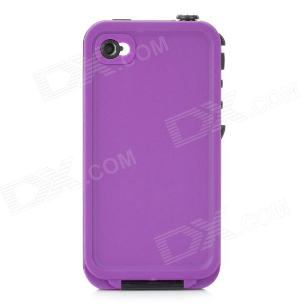 4-1 Waterproof Shockproof Drop Resistance Case for Iphone 4 / 4S - Black + Purple wheat breeding for rust resistance