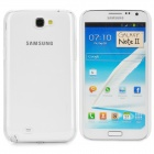 Protective Plastic Hard Back Case for Samsung Galaxy Note 2 N7100 - White + Transparent