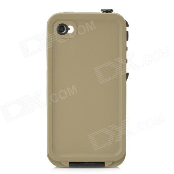 4-1 Waterproof Shockproof Drop Resistance Case for Iphone 4 / 4S - Black + Army Green wheat breeding for rust resistance
