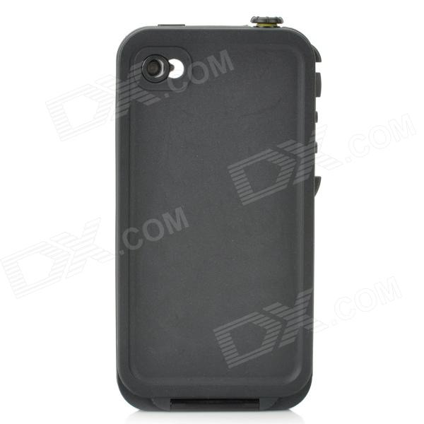 4-1 Waterproof Shockproof Drop Resistance Case for Iphone 4 / 4S - Black wheat breeding for rust resistance