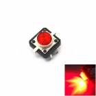 Jtron Light Touch Switches w/ Red Light - Red + Black (10 PCS / 12 x 12mm)
