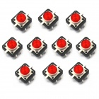 Jtron Light Touch passe w / Red Light - rouge + noir (10 PCS / 12 x 12mm)