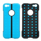 Protective Folding ABS + TPU Stand Back Case for Iphone 5C - Blue + Black