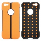 Protective Folding ABS + TPU Stand Back Case für iPhone 5c - Orange + Schwarz