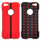Protective Folding ABS + TPU Stand Back Case for Iphone 5C - Red + Black