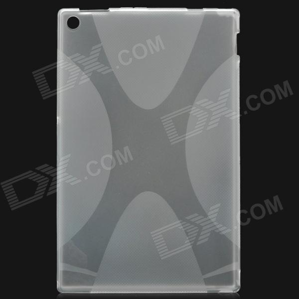 X Pattern Protective PVC + TPU Back Case for Sony Xperia Tablet Z + More - Translucent White ikki x pattern protective tpu case for sony xperia z2 tablet p511 p512 translucent blue