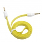 AYA-041 Flat 3.5mm Male to Male Audio Connection Cable - Yellow + White (104cm)