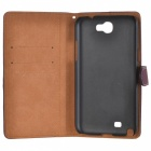 Protective Flip-open PU Leather Case w/ Holder / Card Slot for Samsung N7100 - Red Brown