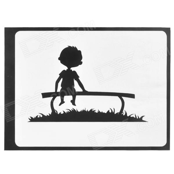 Creative Kid On the Bench Pattern Sticker for Apple Macbook 11