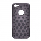 Protective Silicone + Plastic Back Case for Iphone 5 - Black