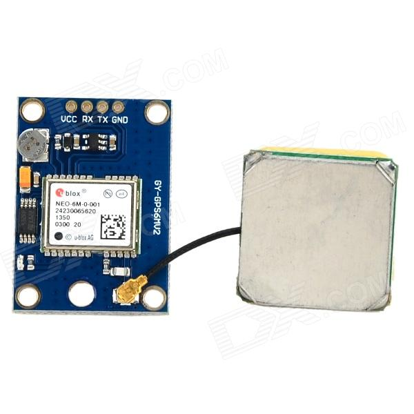 Ublox NEO-6M GPS Module w/ EEPROM - Blue + Green gy neo6mv2 neo 6m gps module neo6mv2 with flight control eeprom mwc apm2 5 large antenna for arduino