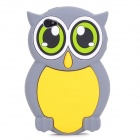 Cute 3D Owl Pattern Silicone Back Case for Iphone 4 / 4S - Grey + Yellow