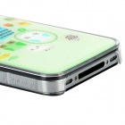 ip-4 Protective Cute Pattern Back Case for Iphone 4 / 4S - Light Green + Transparent