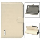 Protective  PU Leather Case w/ Stand for Samsung Galaxy Tab P3100 - Beige