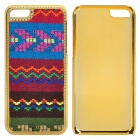 Stylish Tribal Ethnic Pattern Knit Fabric + Plastic Back Case for Iphone 5C - Multi-colored